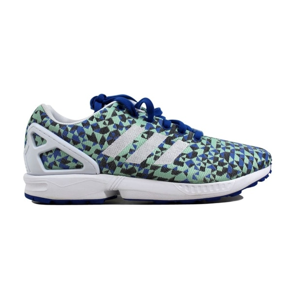 e62361388a6e6 Shop Adidas Men s ZX Flux Weave Blue White-Black B34474 - Free ...