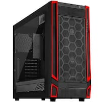 ATX Gaming Computer Case - Black with Black Front Cases