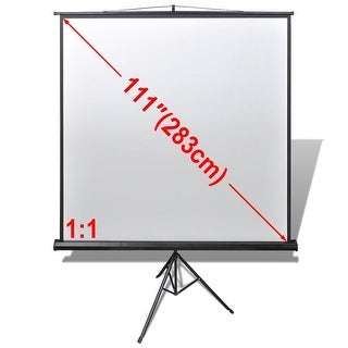 vidaXL Manual Projection Screen / Height Adjustable Stand 78.7x78.7 inch 1:1