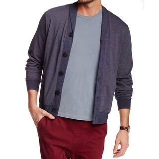 HOWE NEW Blue Mens Size Medium M Stripe Shawl Collar Cardigan Sweater