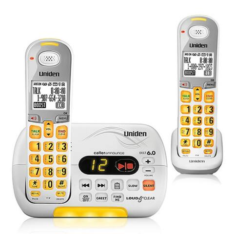 Uniden D3097-2 Cordless Amplified Phone w/ Audio Boost & 1 Additional Handset
