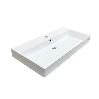"WS Bath Collections Energy 85 Energy 33-1/2"" Ceramic Vessel Bathroom"