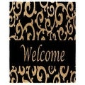 "J & M Home Fashions 4289 Coir Floor Mat, Black Scroll With Welcome, 18"" X 30"" - Thumbnail 0"