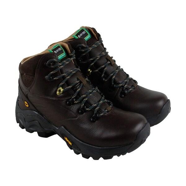 Hi-Tec V Lite Flash Hike I Wp Mens Brown Leather Hiking Lace Up Boots Shoes