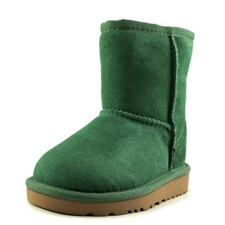 Ugg Australia Classic Toddler Round Toe Suede Green Winter Boot