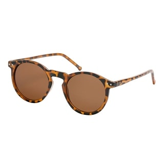 Gravity Shades Vintage P3 Round Horned Sunglasses - One size