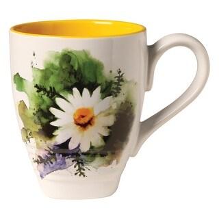 Demdaco Dean Crouser Artwork Flowering Chamomile Coffee Mug Tea Mug - 16 oz. Ceramic - 3 in. x 4.25 in. x 3.75 in.