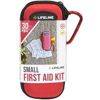Lifeline Small Hard-Shell Foam Case First Aid Kit - 30 Pieces - Red - s