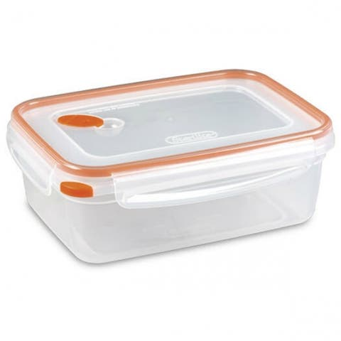 Sterilite 03221106 UltraSeal Rectangle Food Storage Container, Orange, 8.3 Cup