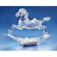 "16.5"" Large Rocking Horse Musical Figurine with Motion Feature - CLEAR"