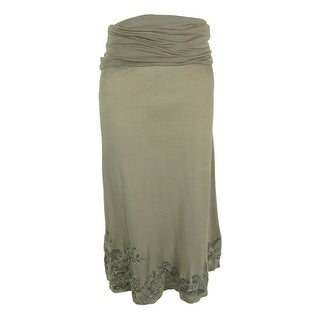 INC International Concepts Women's Embroidered Skirt - petite