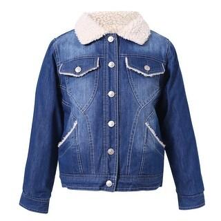 Richie House Girls' Autumn Winter Quilted Denim Jacket