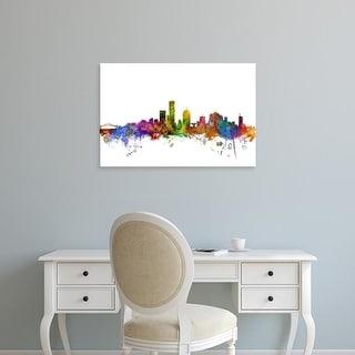 Easy Art Prints Michael Tompsett's 'Milwaukee Wisconsin Skyline' Premium Canvas Art