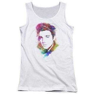 Elvis/Watercolor King Juniors Tank Top Shirt