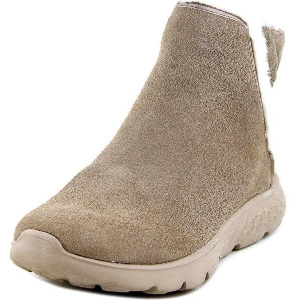 Skechers On The Go 400 Cozies Women Round Toe Synthetic Gray Ankle Boot