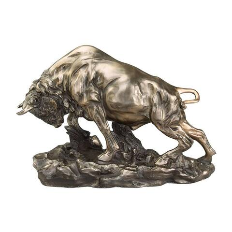 Design Toscano Charge of the Buffalo Sculpture