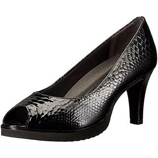 Walking Cradles Womens Tigress Platform Heels Patent Leather Peep Toe