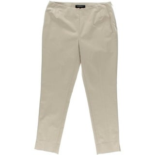 Lafayette 148 Womens Solid Flat Front Cropped Pants