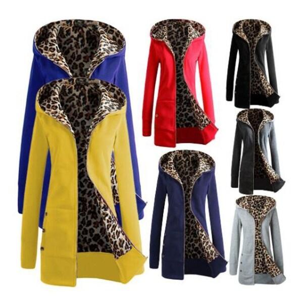 Leopard Sweater Tops Women's Jackets