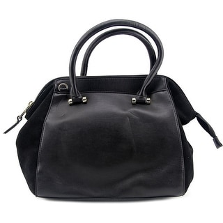French Connection Devin Satchel Synthetic Satchel - Black