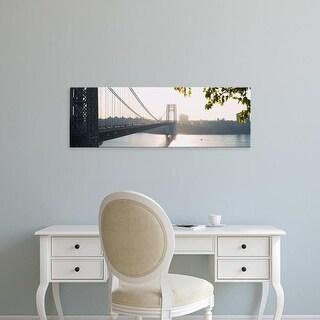 Easy Art Prints Panoramic Images's 'Bridge across the river, George Washington Bridge, New York City' Canvas Art