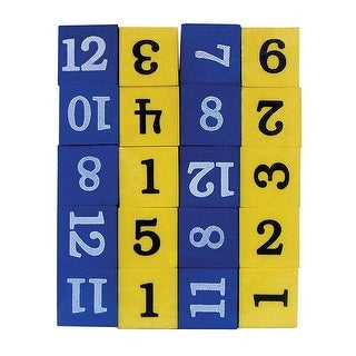 Foam Numbered Dice Numerals 1-12