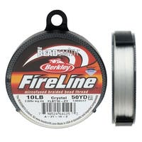 FireLine Braided Beading Thread, 10lb Test and 0.008 Thick, 50 Yards, Crystal Clear