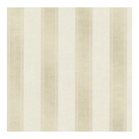 Simmons Beige Regal Stripe Wallpaper - 20.5in x 396in x 0.025in