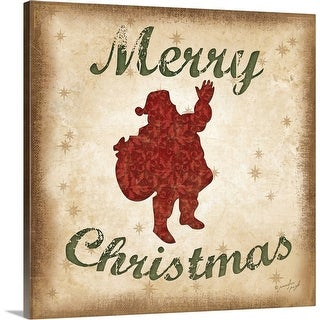 """Merry Christmas"" Canvas Wall Art"