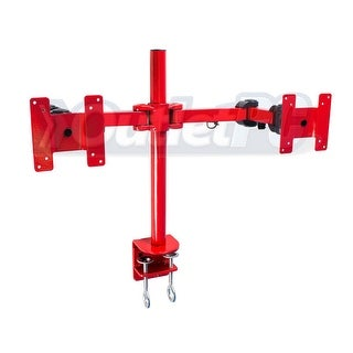 Monmount LCD-194R Dual Screen Monitor Mount with Desk Clamp (Red)