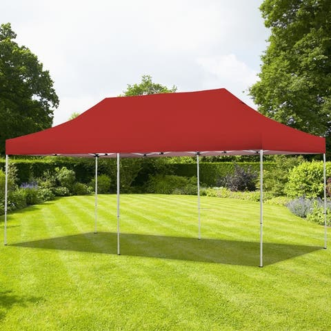 10X20 Pop Up Gazebo Canopy Tent with Sidewalls & Wheeled Carry Bag Portable Patio Canopy Shelter Commercial (Without Sidewalls