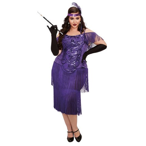 Plus Size Miss Ritz Costume - As Shown