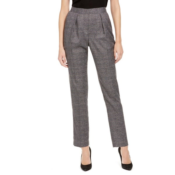 Anne Klein Womens Suit Pants Plaid Pleated - Anne Black Combo. Opens flyout.