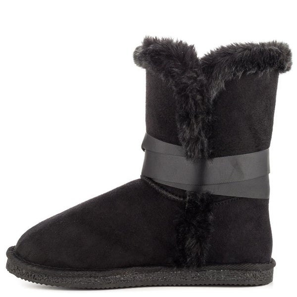 Just Fab Womens Akron Closed Toe Mid-Calf Cold Weather Boots
