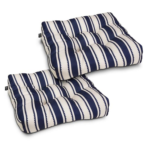 Water-Resistant 19 x 19 x 5 Inch Square Patio Seat Cushion, 2-Pack