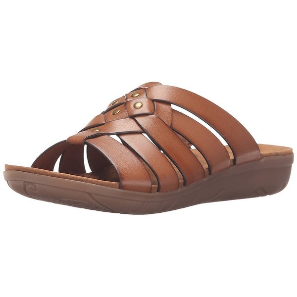 Bare Traps Womens Jaydin Open Toe Casual Slide Sandals