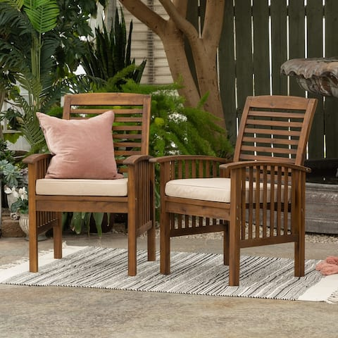 Havenside Home Acacia Wood Chairs (Set of 2)