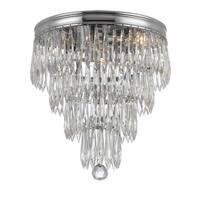 "Crystorama Lighting Group 125-CL-MWP Chloe 3 Light 10"" Wide Flush Mount Ceiling"