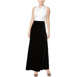 Alex Evenings Womens Formal Dress Velvet Satin