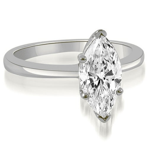 1.00 cttw. 14K White Gold Solitaire Marquise Cut Diamond Engagement Ring