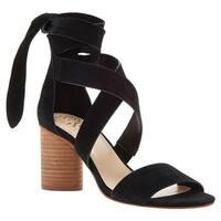 Vince Camuto Women's Jeneve Strappy Sandal Black True Suede