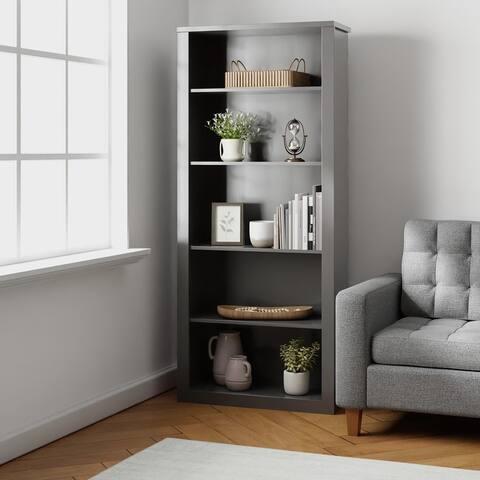 Brookside Elaine Five Shelf Adjustable Bookcase