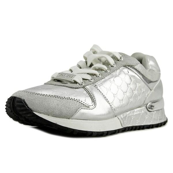 Bebe Sport Racer Women Silver Sneakers Shoes