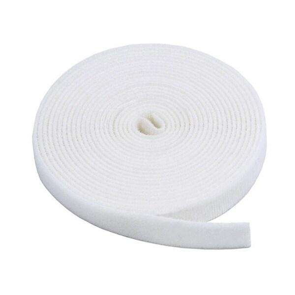 Monoprice 2-Pack Hook & Loop Fastening Tape 5 yard/roll, 0.75-inch - White