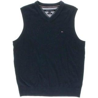 Tommy Hilfiger Mens Pima Cotton V-Neck Casual Vest