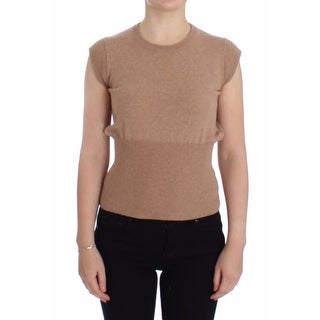 Dolce & Gabbana Dolce & Gabbana Beige Cashmere Knit Top Crewneck Sweater Vest - L