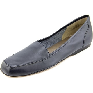 Array Freedom Square Toe Women N/S Square Toe Leather Blue Loafer