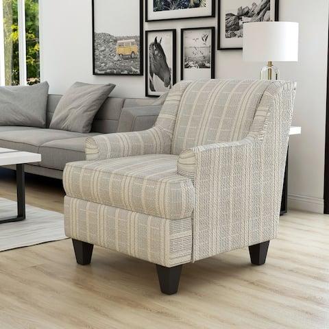 Furniture of America Binick Transitional Stripe Pattern Armchair