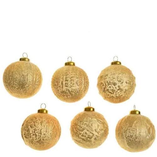 Gold Glass Balls Set of 6