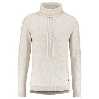 Jack & Jones NEW White Ivory Mens 2XL Speckled Funnel Neck Sweater